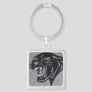 Panther Print Square Keychain