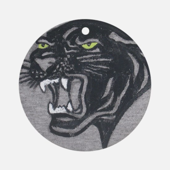 Panther Print Round Ornament