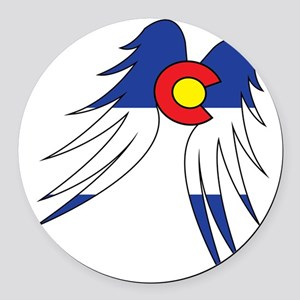 Colorado Wings Round Car Magnet