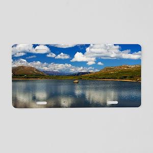 Alpine Lake on the Continen Aluminum License Plate
