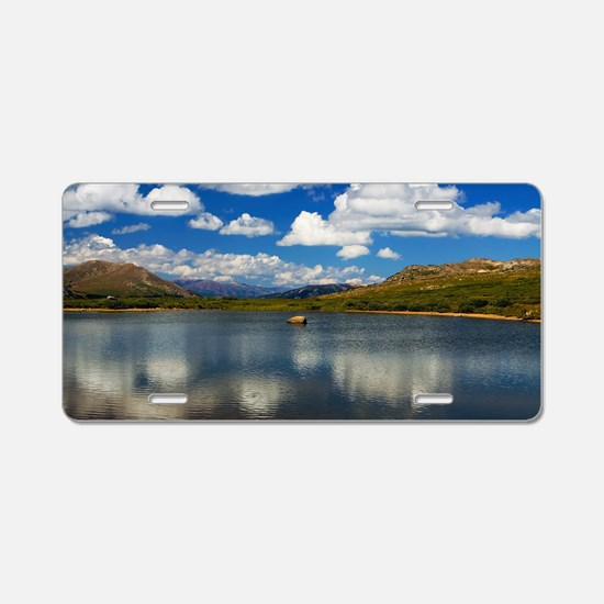 Alpine Lake on the Continen Aluminum License Plate