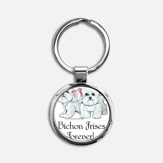 BICHON FRISE Round Keychain