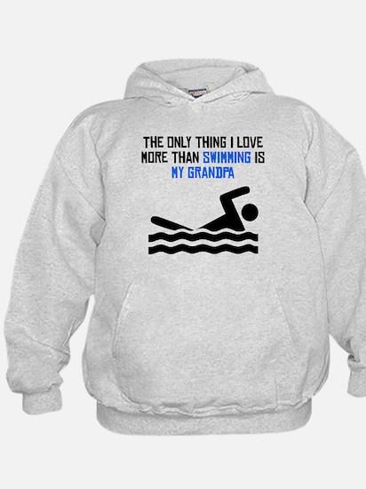 Swimming Grandpa Hoodie