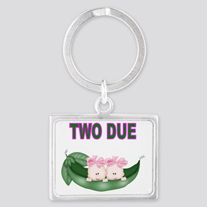 DOUBLE BLESSING-TWIN GIRLS Landscape Keychain