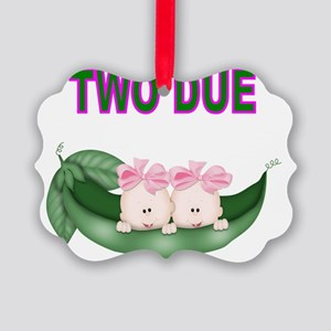 DOUBLE BLESSING-TWIN GIRLS Picture Ornament