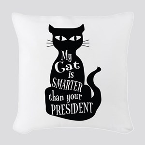 My Cat is Smarter than Your President Woven Throw