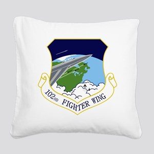 102nd FW Square Canvas Pillow