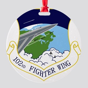 102nd FW Round Ornament