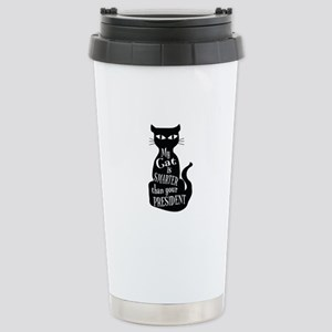 My Cat is Smarter than Your President Travel Mug