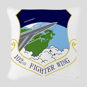 102nd FW Woven Throw Pillow
