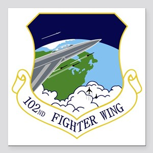 """102nd FW Square Car Magnet 3"""" x 3"""""""