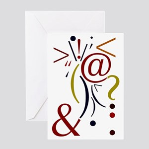 Punctuation Art Greeting Card