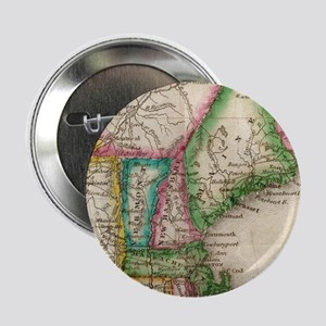 """Vintage Map of New England (1822) 2.25"""" Button"""