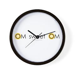 Om sweet Om Wall Clock