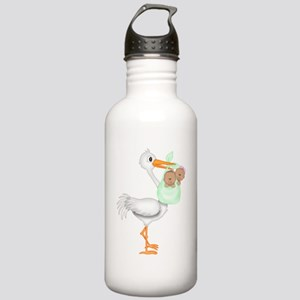 STORK WITH AFRO AMERIC Stainless Water Bottle 1.0L