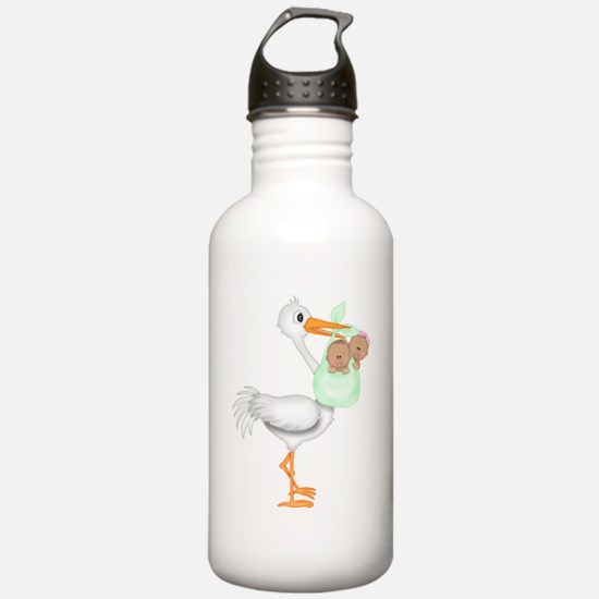 STORK WITH AFRO AMERIC Water Bottle