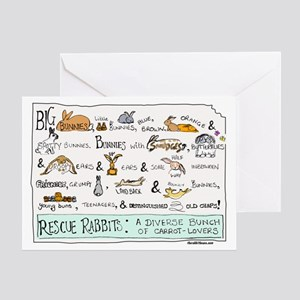 Rescue Rabbits Greeting Card