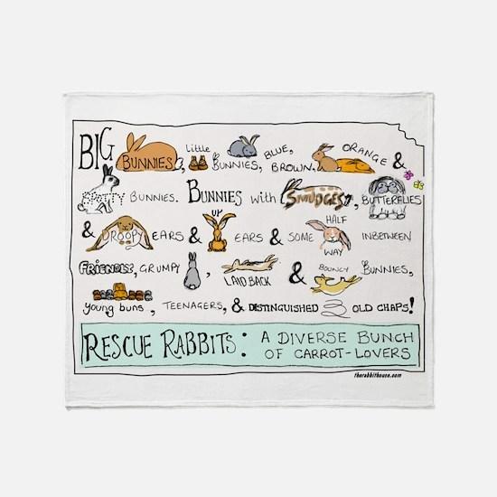Rescue Rabbits Throw Blanket