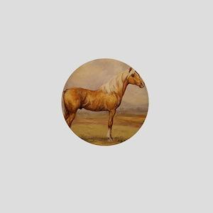 Palomino Horse Mini Button