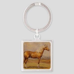Palomino Horse Square Keychain