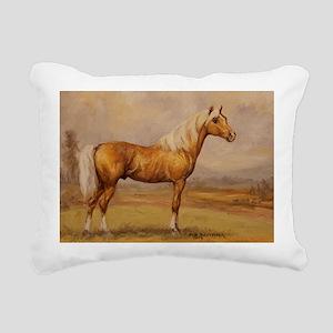 Palomino Horse Rectangular Canvas Pillow
