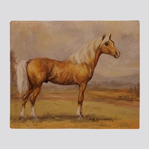 Palomino Horse Throw Blanket