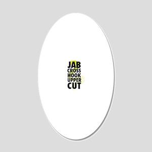 Jab Cross Hook Upper-cut 20x12 Oval Wall Decal
