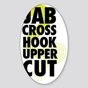 Jab Cross Hook Upper-cut Sticker (Oval)