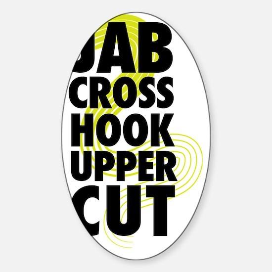 Jab cross hook upper cut sticker oval