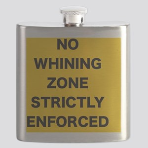 No Whining Zone Flask