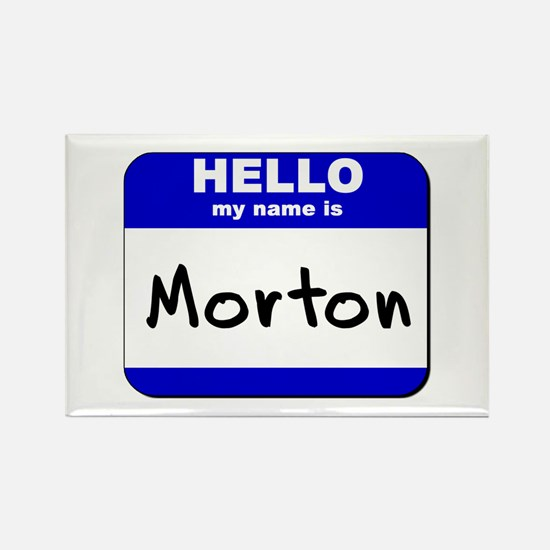 hello my name is morton Rectangle Magnet