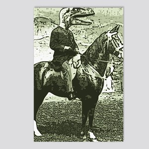 dinosaur man on horse Postcards (Package of 8)