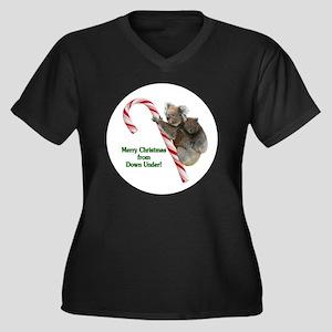 Australia Ch Women's Plus Size Dark V-Neck T-Shirt