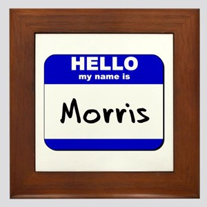 hello my name is morris  Framed Tile