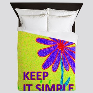 Wildflower Keep It Simple Queen Duvet
