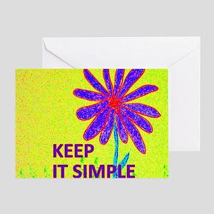 Wildflower Keep It Simple Greeting Card