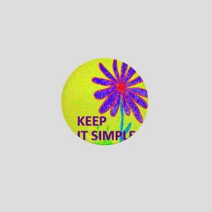 Wildflower Keep It Simple Mini Button