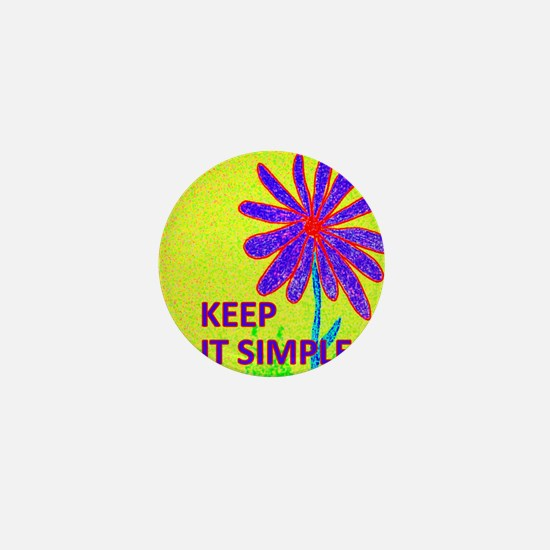Wildflower Keep It Simple Mini Button