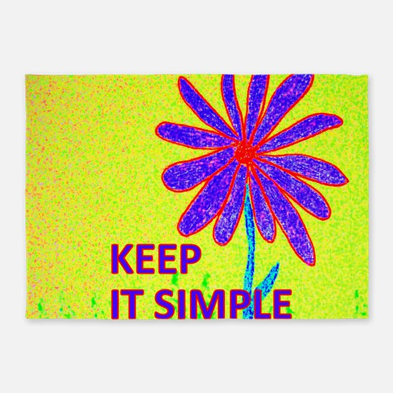 Wildflower Keep It Simple 5'x7'Area Rug