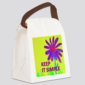 Wildflower Keep It Simple Canvas Lunch Bag