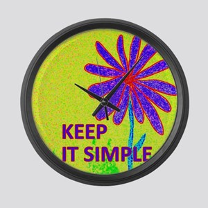 Wildflower Keep It Simple Large Wall Clock