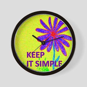 Wildflower Keep It Simple Wall Clock