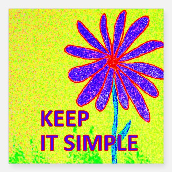 "Wildflower Keep It Simpl Square Car Magnet 3"" x 3"""