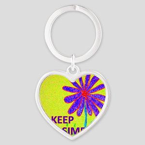 Wildflower Keep It Simple Heart Keychain