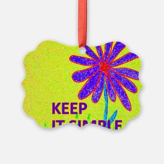 Wildflower Keep It Simple Ornament