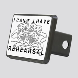 REHEARSAL with Grey Drama  Rectangular Hitch Cover