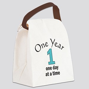 One Year -- one day at a time Canvas Lunch Bag
