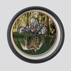 Native Reflections Large Wall Clock
