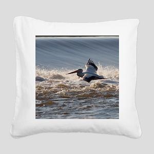pelican 8x8 Square Canvas Pillow
