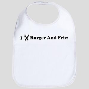 I Eat Burger And Fries Bib